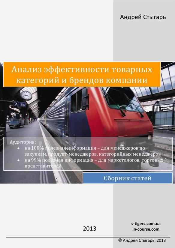 Сборник статей Анализ эффективности товарных категорий и брендов компании Андрей Стыгарь
